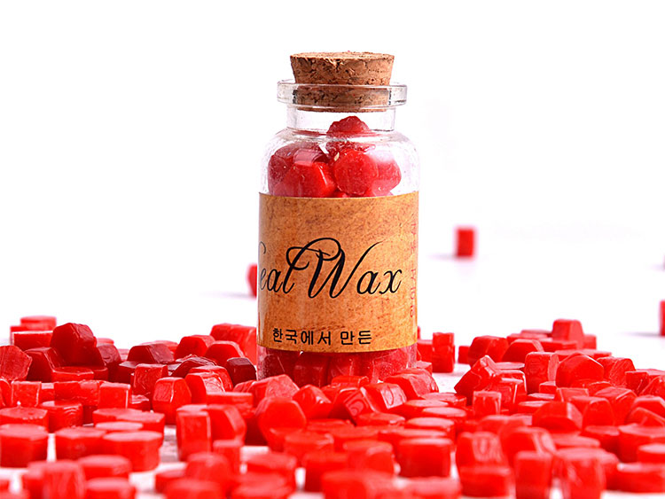 Flexible and Mailable Genuine Wax Seal Beads in Bottle