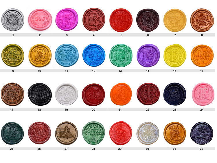 Gold/Sliver Or Custom Color/ Design Wax Seal Sticker