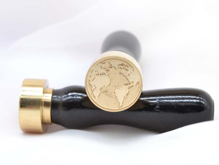 Custome Individual Wedding Rose Wood Handle Brass Wax Seal Stamp
