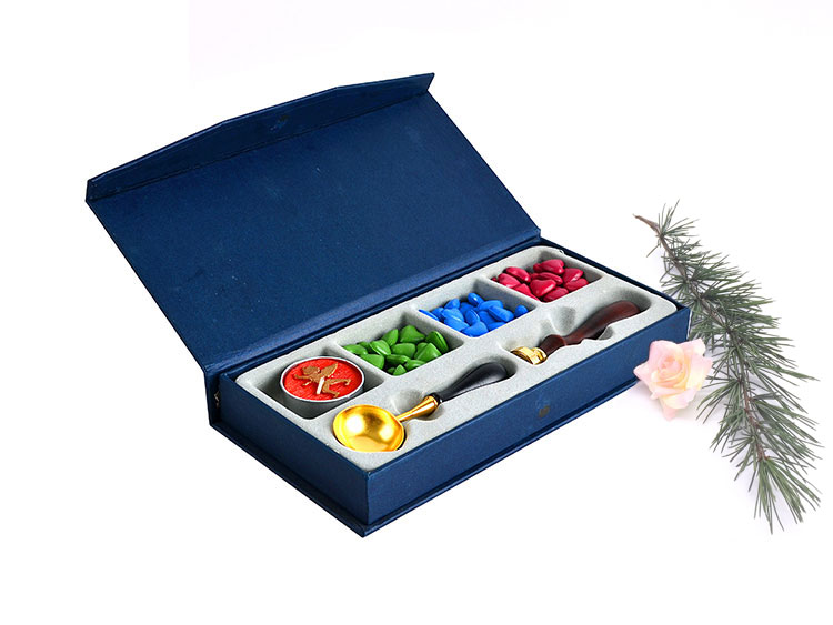 Classical Traditional Sealing Wax Bead Kit with Initial Wax Seal Stamp
